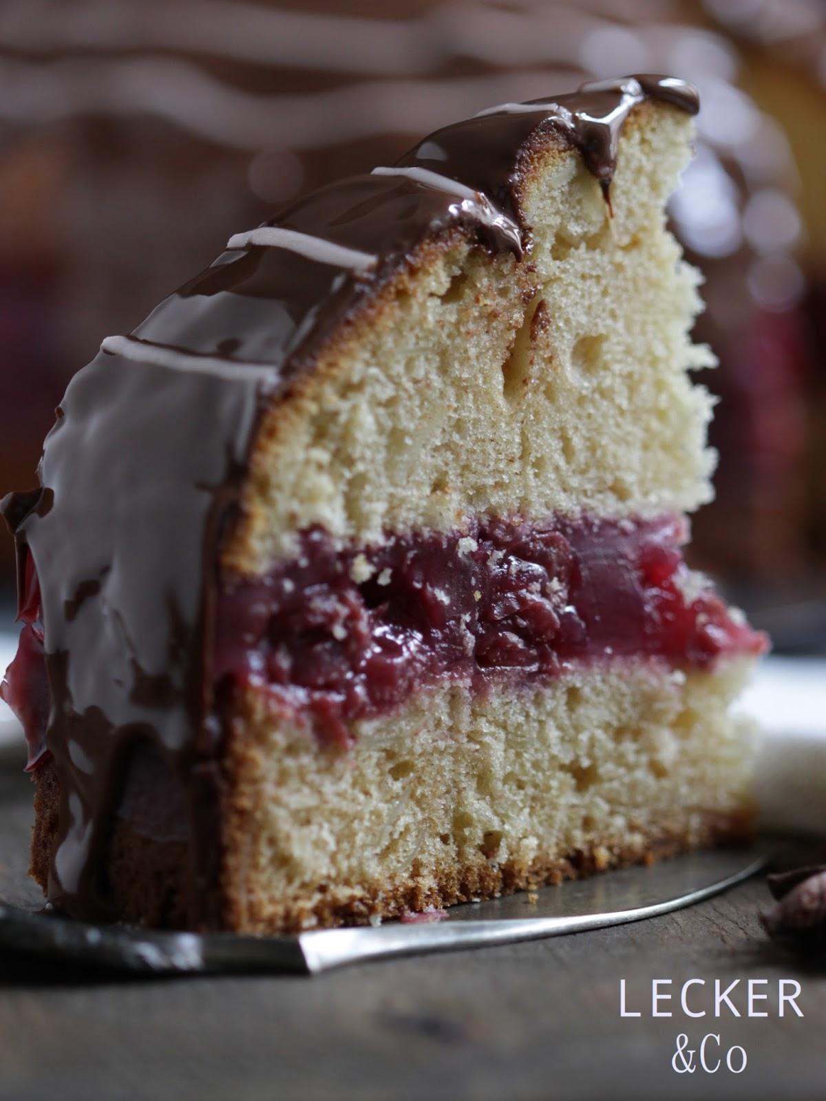 Lebkuchen kirsch torte