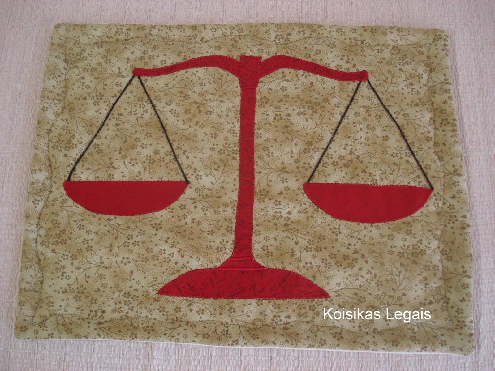 De Advocacia De Meu Marido O S  Mbolo Da Justi  A Em Patchwork