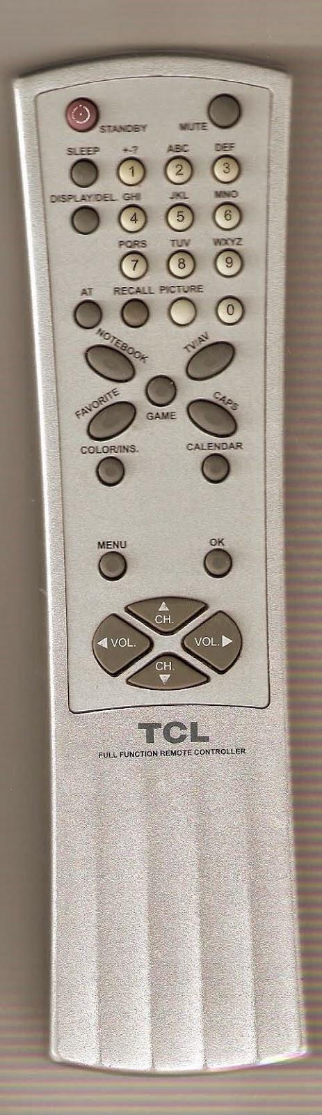 control remoto tv televisor TCL TCL-21E11A