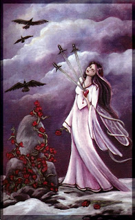 three of swords Crystal Visions Tarot