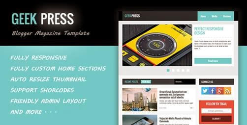 Geek Press Responsive News & Magazine Template