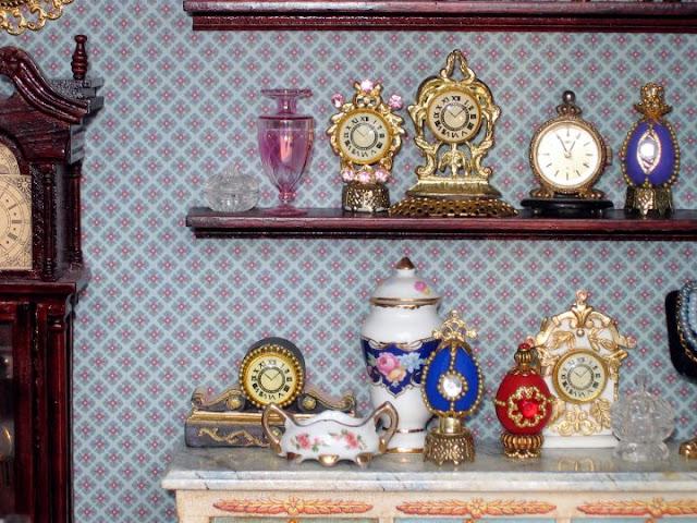 miniature clock shop
