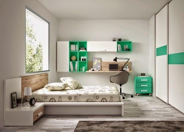 Habitacion juvenil con cama tipo tatami for Habitaciones juveniles con cama grande