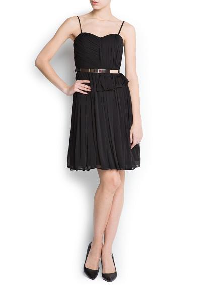 fırfırlı gece elbisesi kısa siyah renk