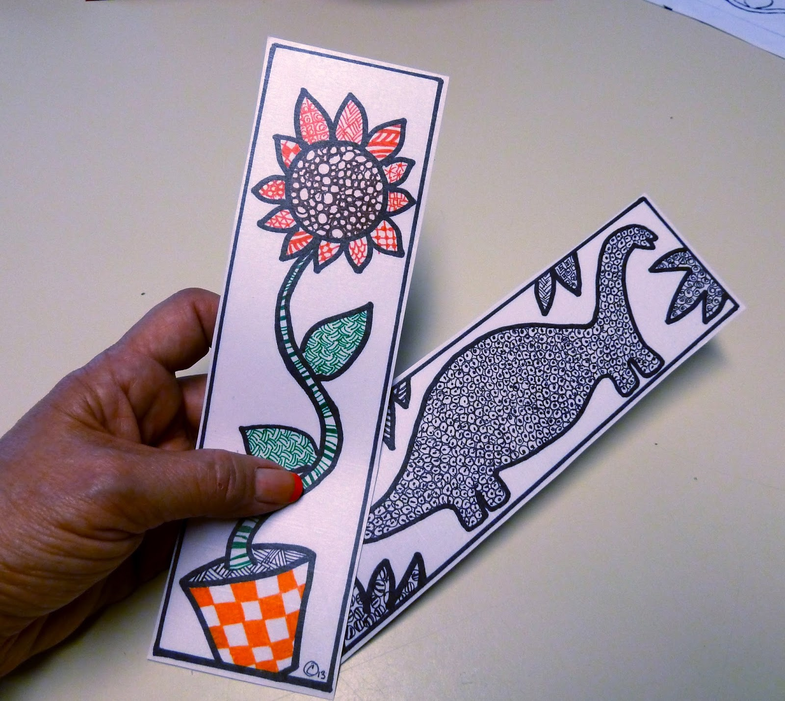 Make it easy crafts create a one of a kind zentangle for Easy bookmark ideas