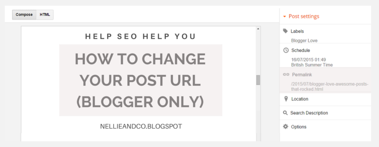 How To Change Blogspot Post Permalinks | Making SEO work for you needn't be a dfficult task. If you're not happy with your posts URL, check out how to change it here!