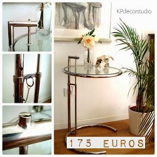 Comprar mesa auxiliar online para oficina, como mesitas de dormitorio originales, mesitas de luz vintage años 70 diseño Eileen Gray