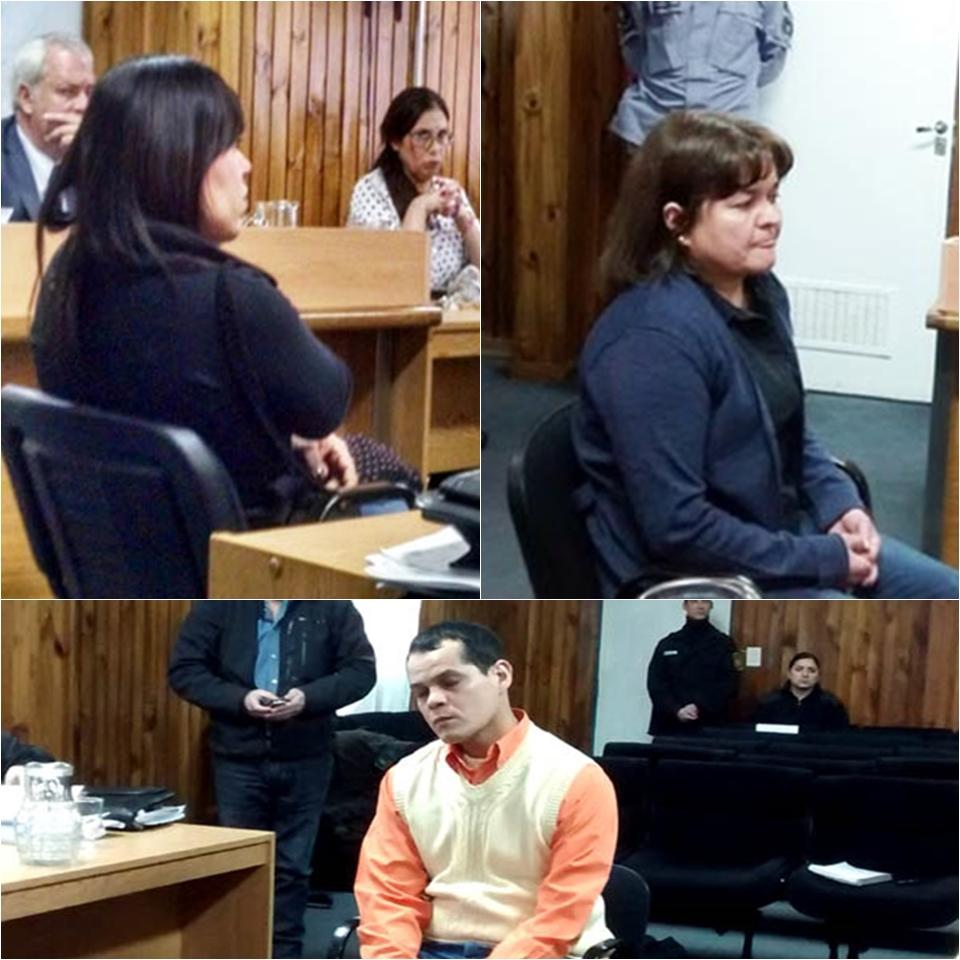 La amante, la mujer y el acusado en el juicio