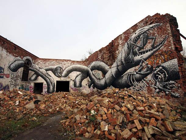 Arte urbana | Graffitis de Phlegm Comic