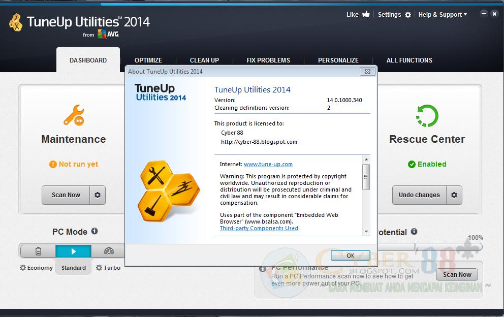 TuneUp Utilites v14.0.1000.340 Final 2014 + Serial Number