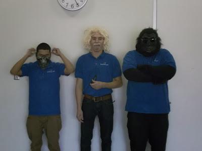 GotPrint employees wearing halloween costumes 2013
