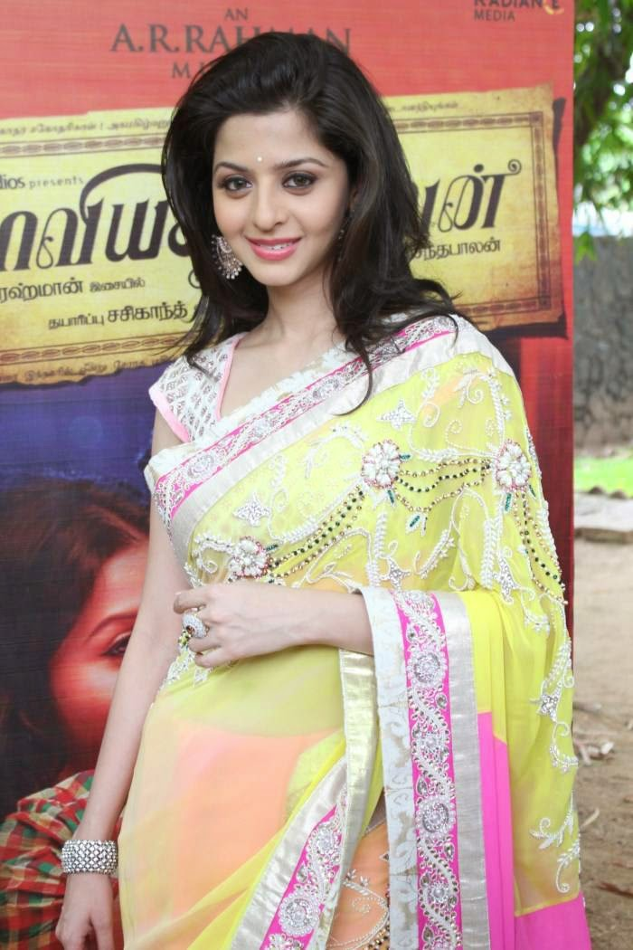 Vedika In Designer Yellow Saree
