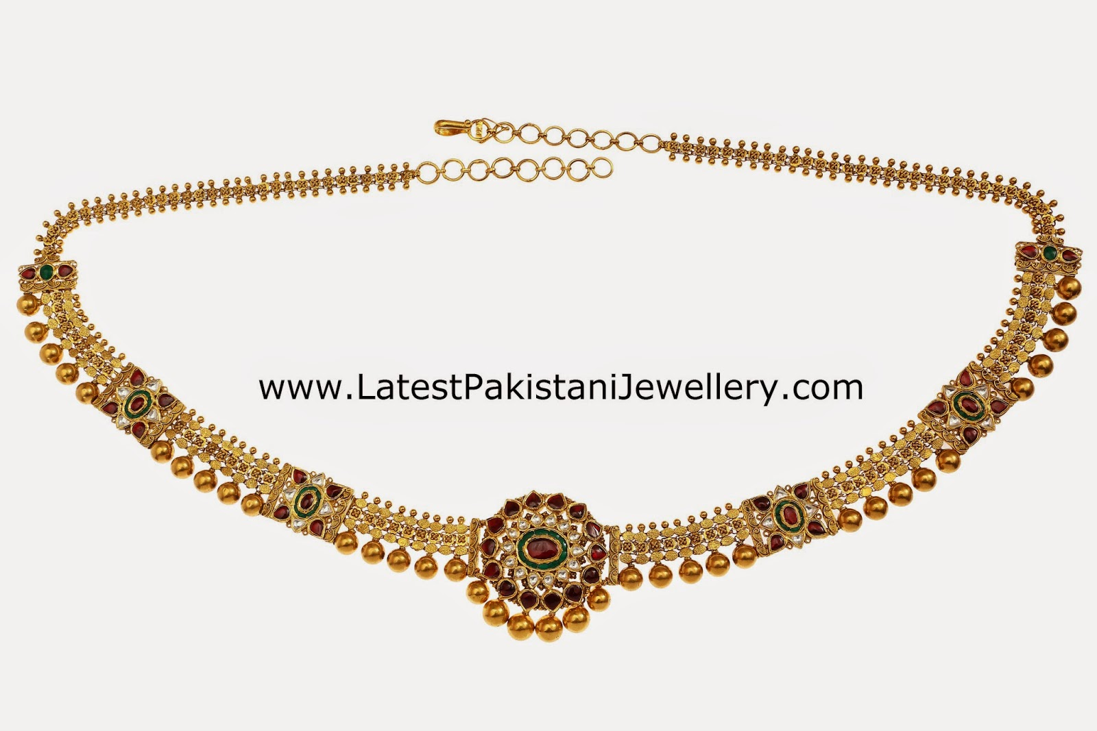 Unique Design Chain Style Kundan Vaddanam | Latest Pakistani Jewellery