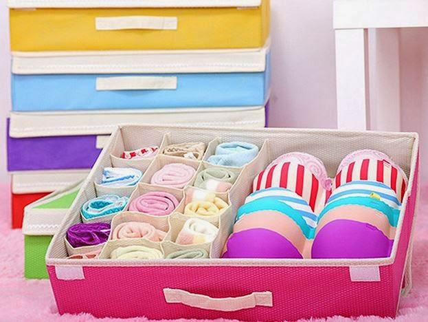 bán buôn hộp đựng đồ lót có nắp 16 ngăn