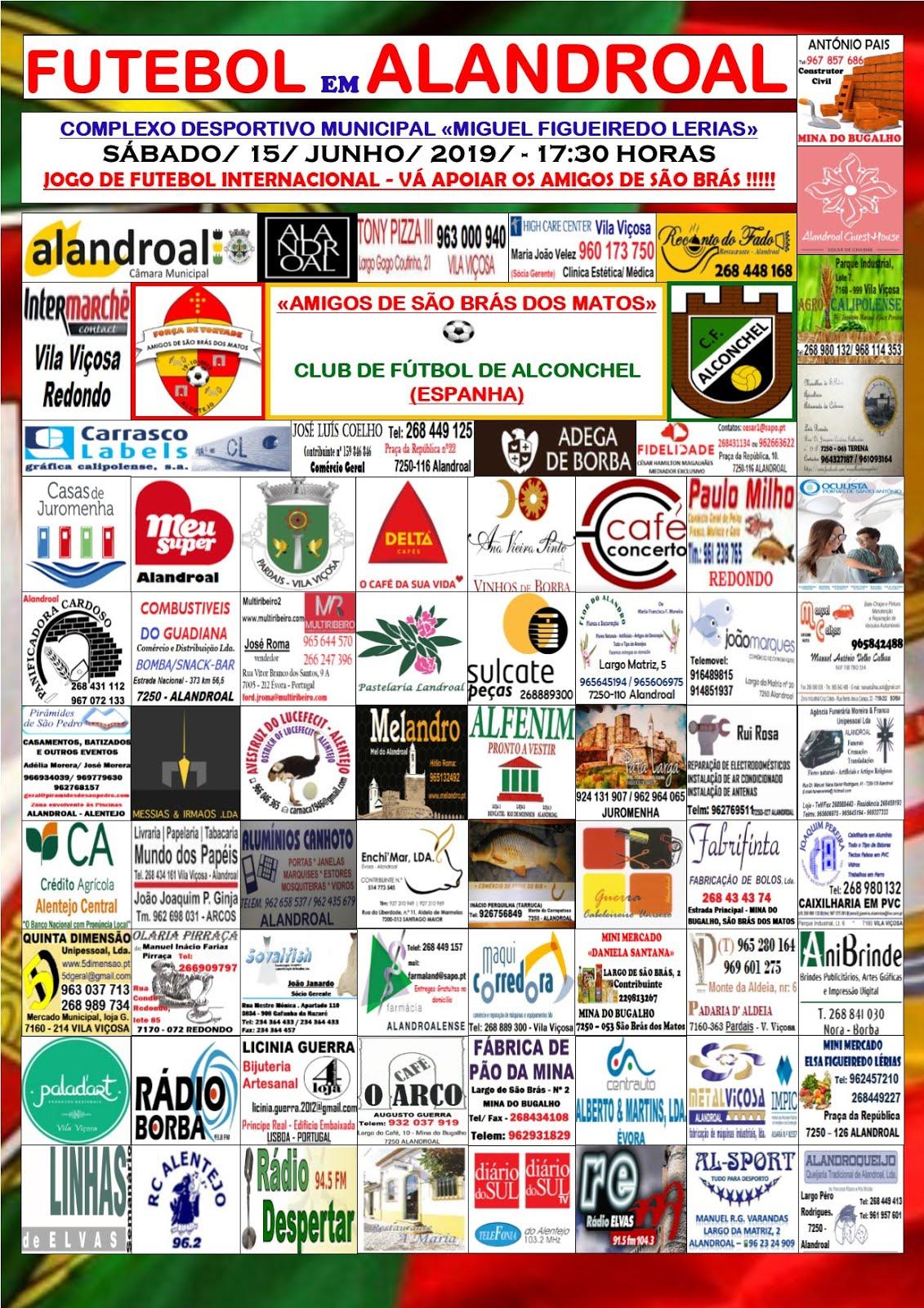 JOGO DE FUTEBOL INTERNACIONAL NO ALANDROAL