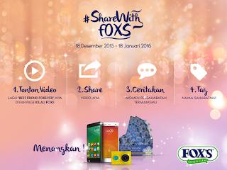 Info Kompetensi - Kompetisi #SharingWithFOXS, Menangin HP, kamera, atau voucher MAP
