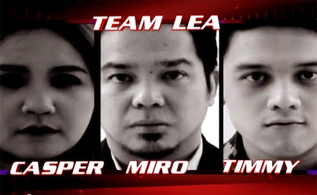 Watch The Performance of Casper Blancaflor, Miro Valera and Timmy Pavino of The Voice of the Philippines Season 2 Team Lea
