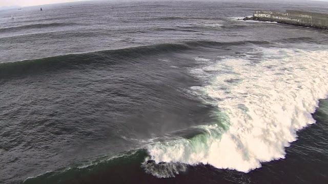 La Galea 5 de Octubre Surf desde un dron