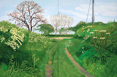 David Hockney - Woldgate Lane to Burton Agnes, 200