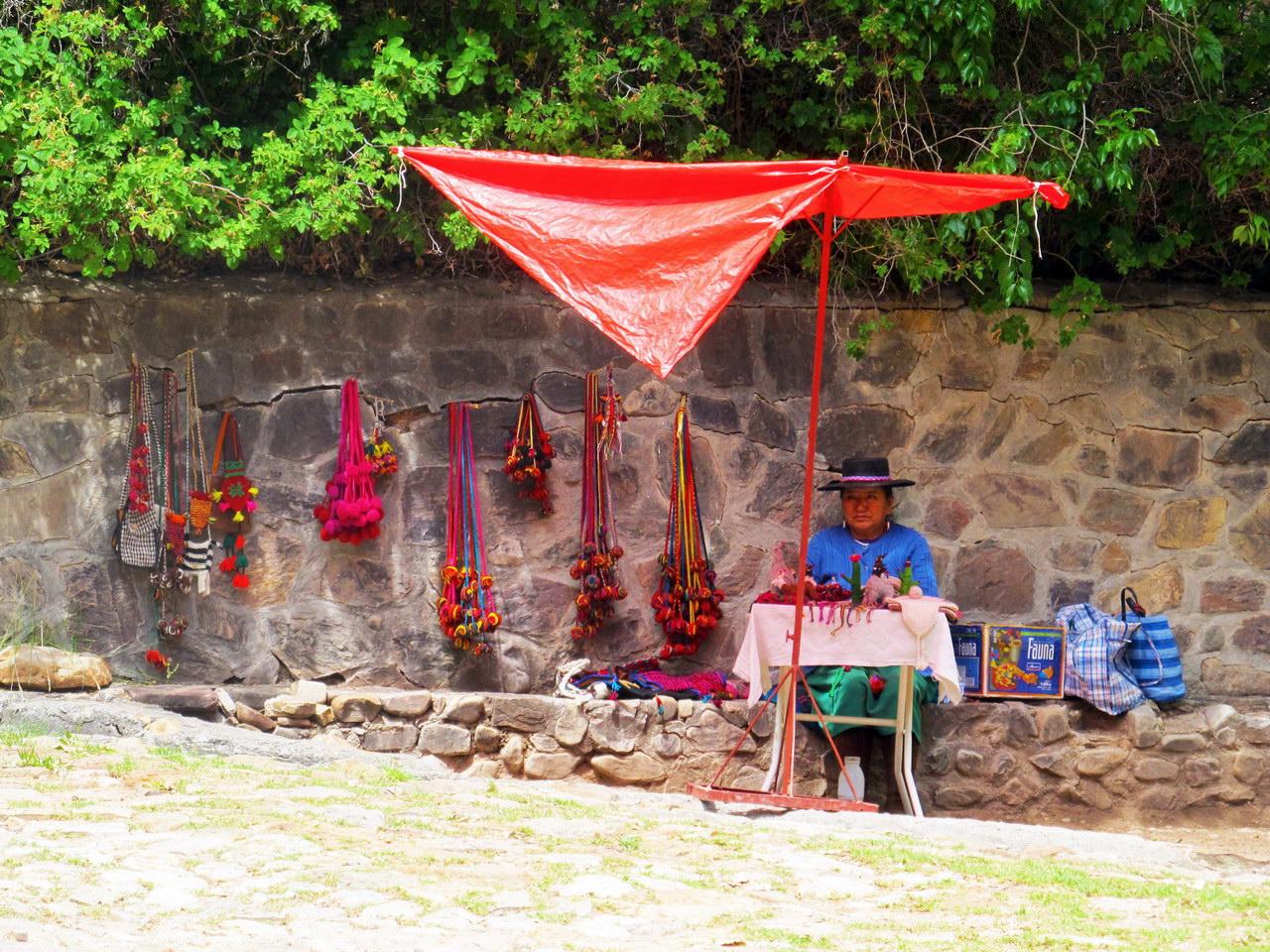 Comerciante boliviana