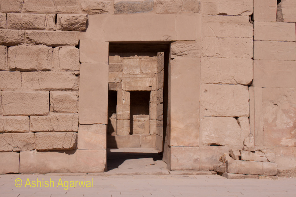 A doorway leading to another section inside the Karnak temple in Luxor