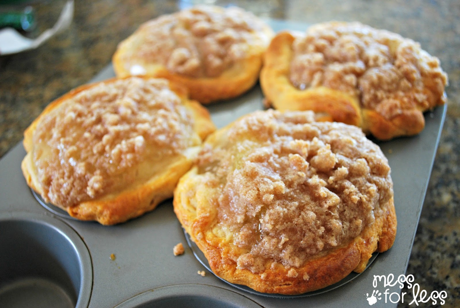 Apple Pie Muffins Using Crescent Rolls - Food Fun Friday | Mess For ...