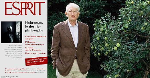 Jürgen Habermas - αφιέρωμα στο περιοδικό Esprit, 8/9-2015 (γαλλικά)