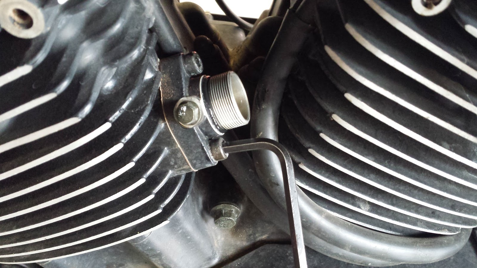 Tear It Up Fix Repeat Kawasaki Vulcan 1500 1600 Camchain Vn Wiring Diagram Time To Remove The Stock End Rings From Rods Are Press Fit Onto Rod Im Sure Theres Other Ways But This Was My Choice With Tools I