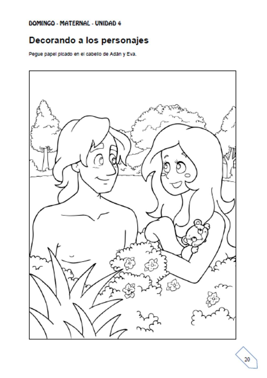 Perfecto Adán Y Eva Para Colorear Ideas - Dibujos Para Colorear En ...