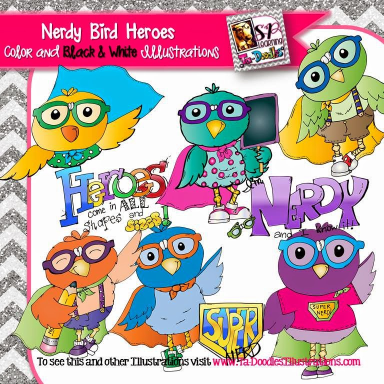 https://www.teacherspayteachers.com/Product/Birds-Dressed-as-Nerd-Heroes-clip-art-1729713