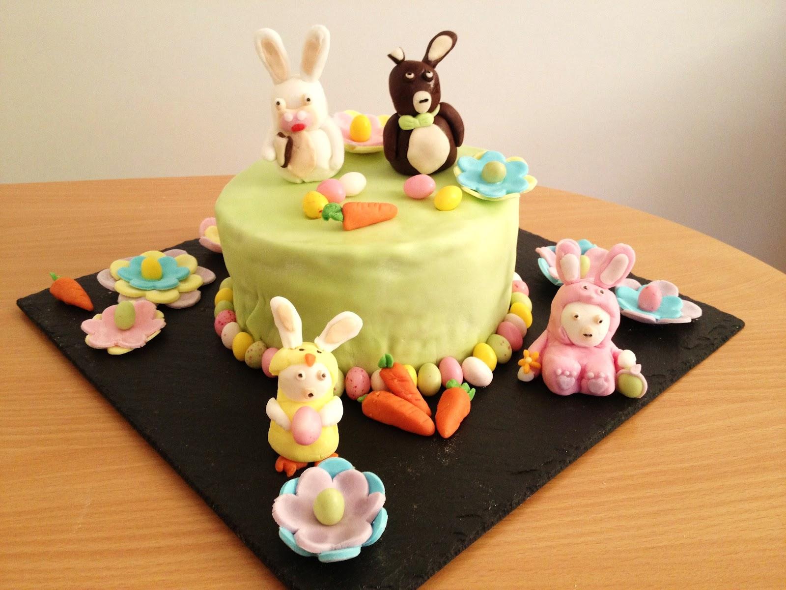 fabtastic cakes g teau les lapins cr tins f tent p ques. Black Bedroom Furniture Sets. Home Design Ideas