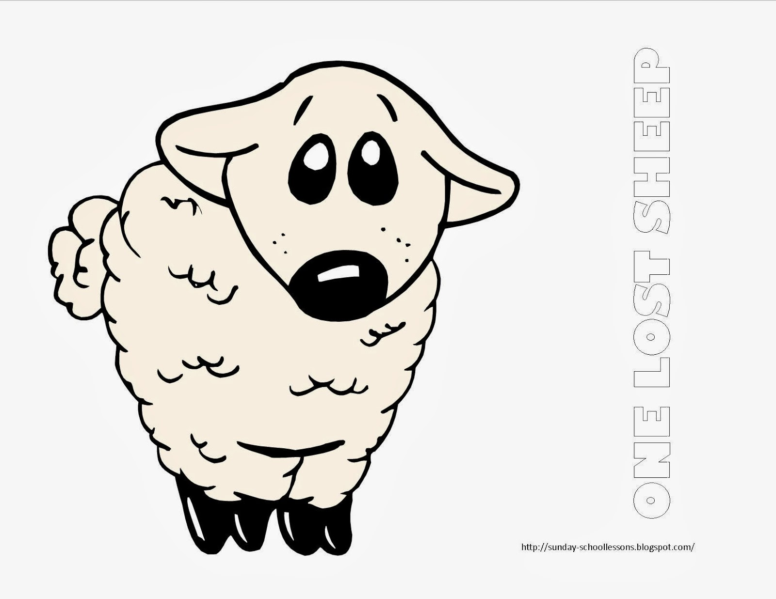 One Lost Sheep Coloring Page Sunday School Coloring Pages