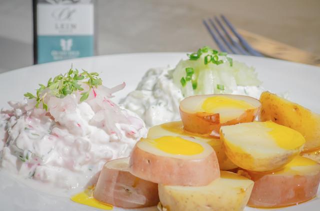 Kartoffel mit Quark und Leinöl