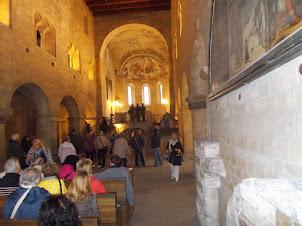 Touring the interior of  Prague castle.