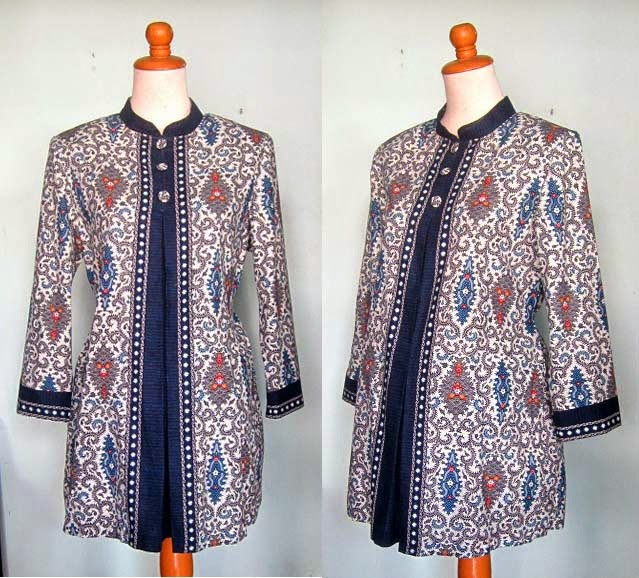 model baju hamil kerja batik