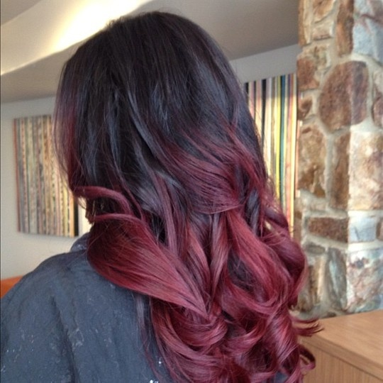 In Moda For Me: Mechas californianas o mechas Ombre style ... Brown Hair With Red Tips Tumblr