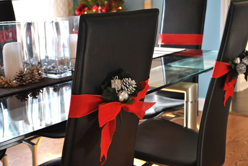 dining room chair christmas decoration