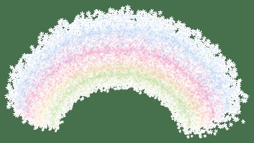 Arco iris de colores pastel