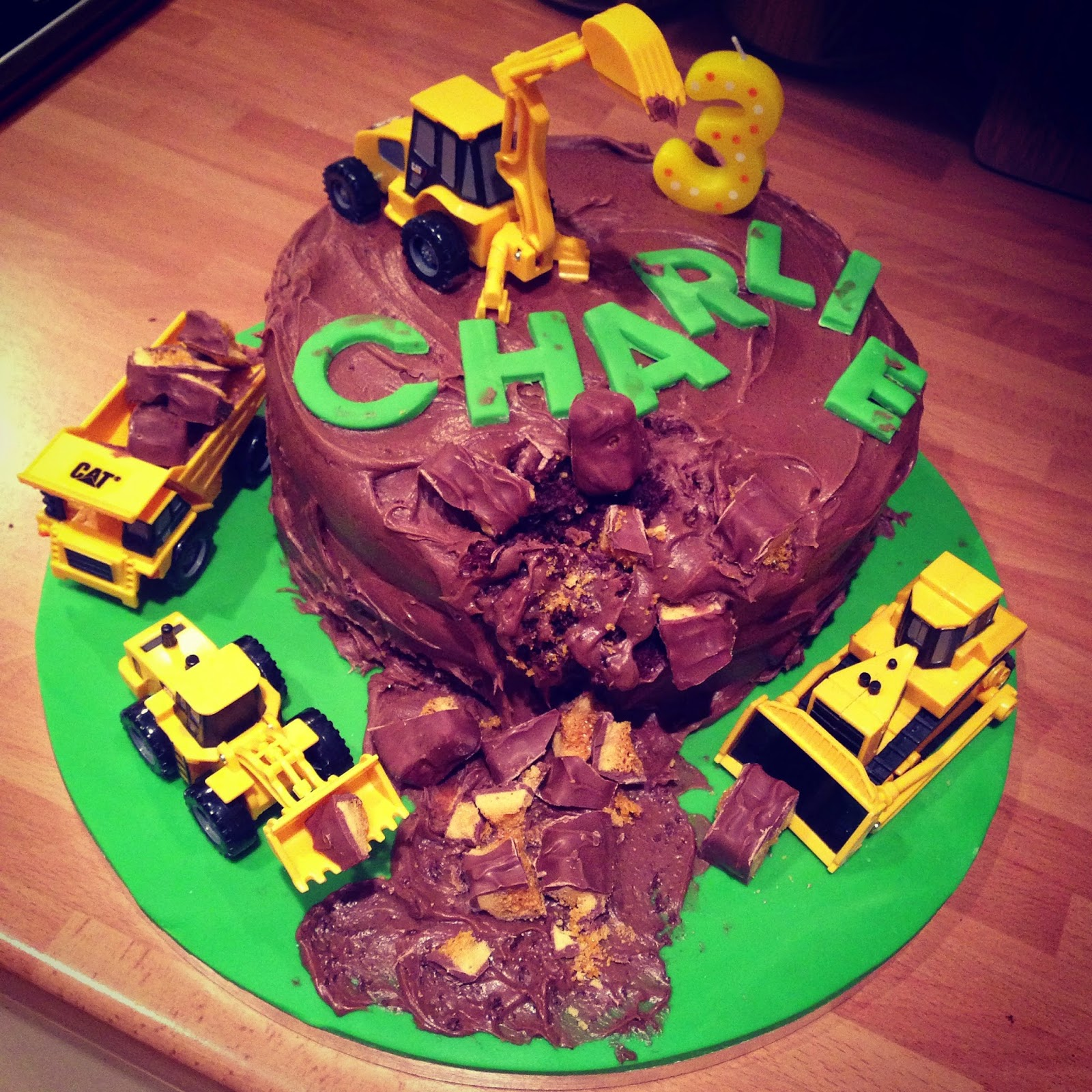 Sugar Rushed Digger Cake Easy Tutorial Boyscake