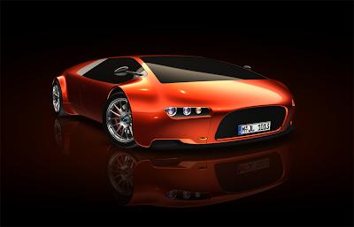 papel de parede carro laranja