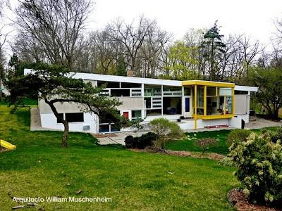 Casa residencial Mid Century en Ann Arbor, Michigan, Estados Unidos 1952