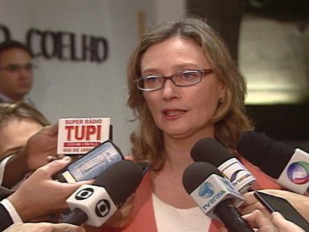 A ministra da Secretaria de Direitos Humanos, Maria do Rosário no Senado (Foto: Reprodução/TV Senado)