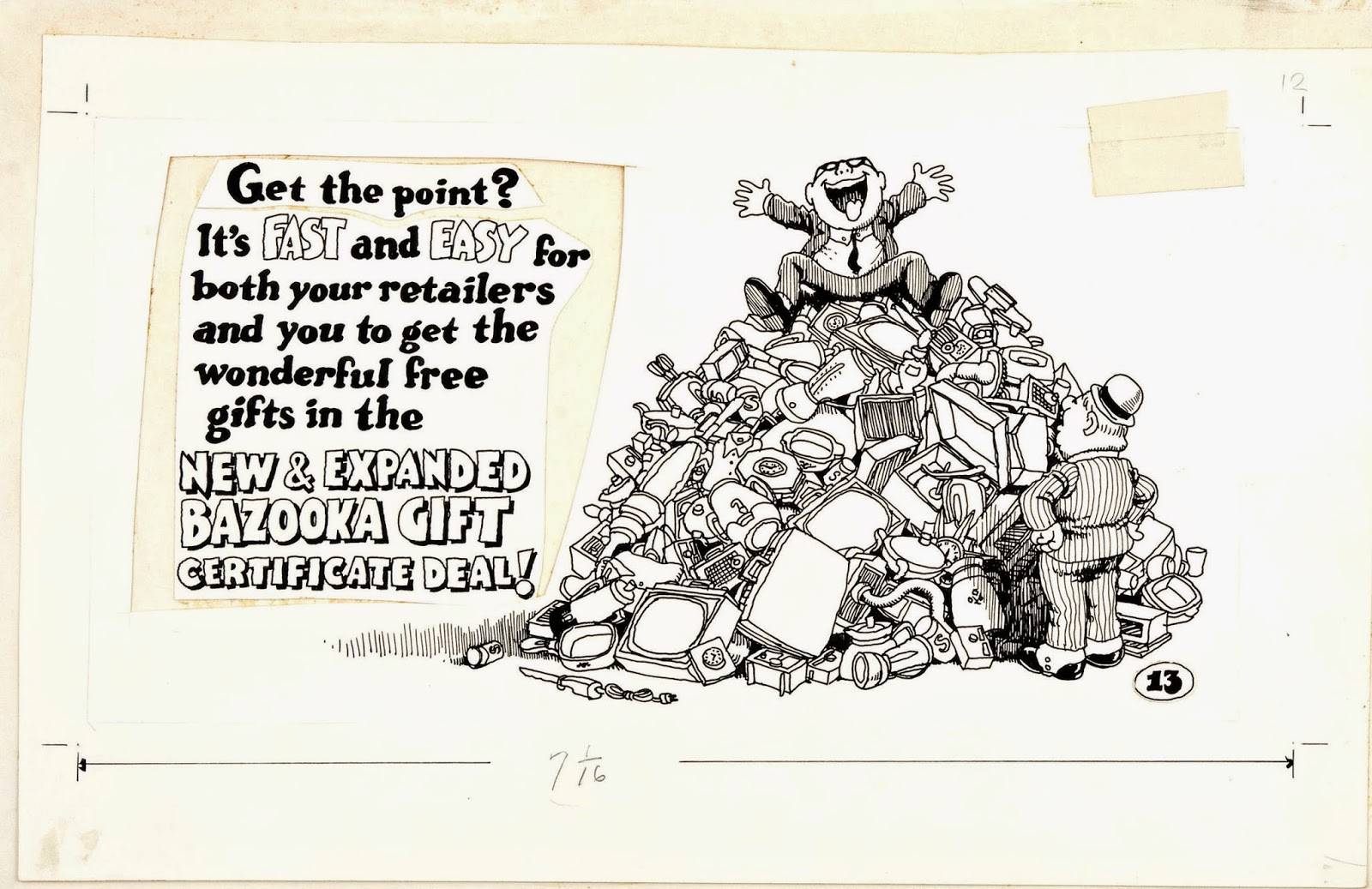 I love the old pasteups everything was done manually back then