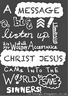 Bible Posters 2-1 Timothy 1:15