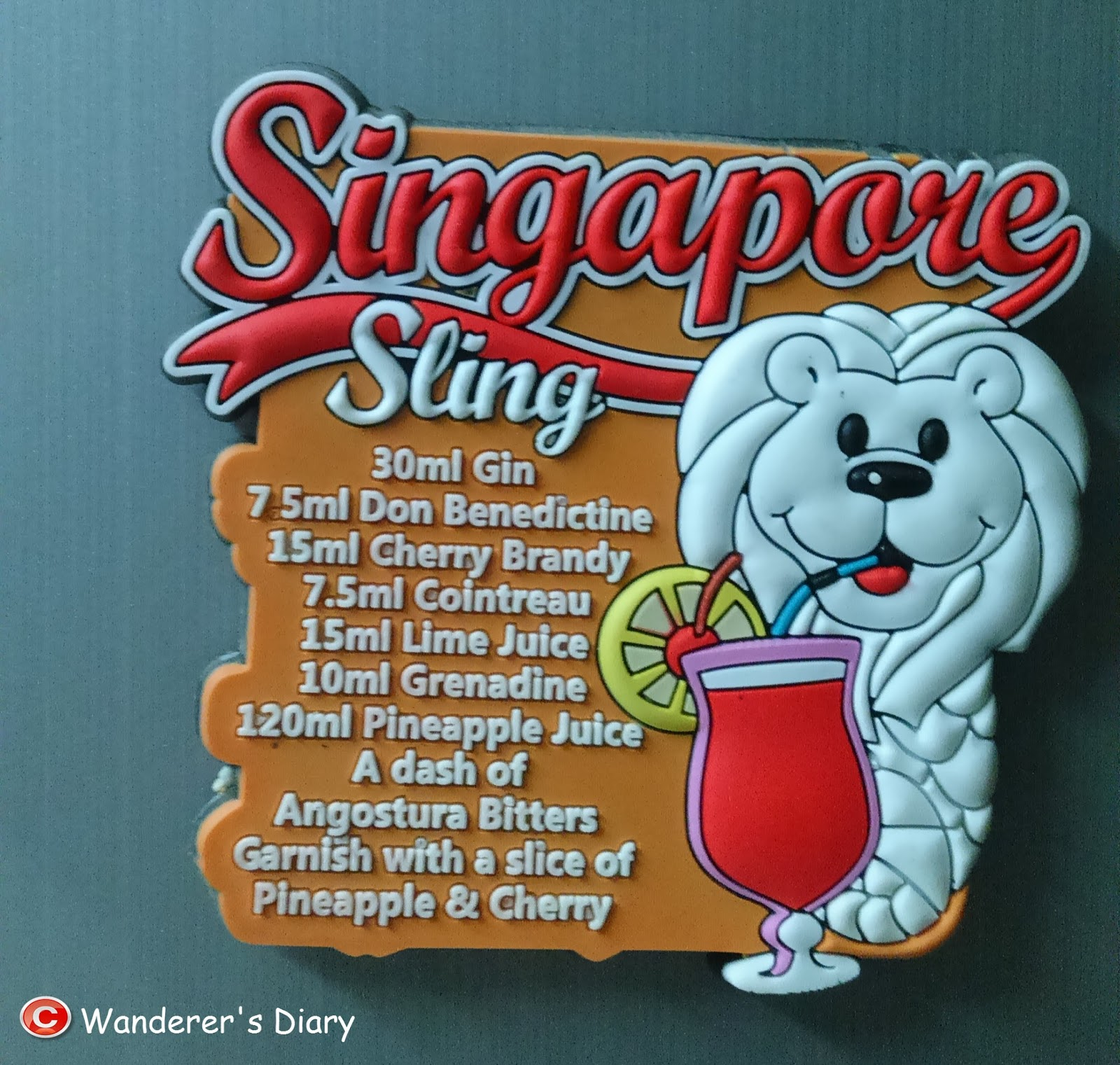 Singapore Sling (Its also a Singaporean national drink) Recipe