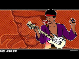 Jimi Hendrix caricatura