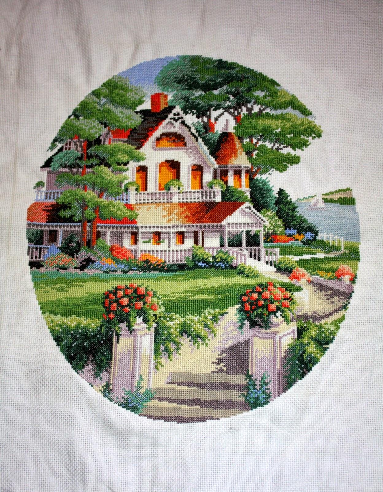 Вышивка дома от dimensions 372