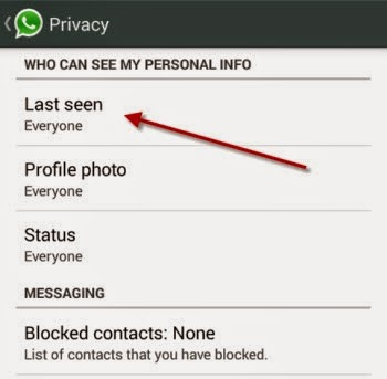 whatsapp last seen settings