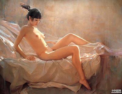 Desnudos Orientales Oleos de Mao Yigang