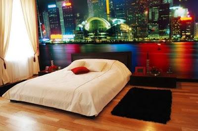 dormitorio moderno juvenil foto mural